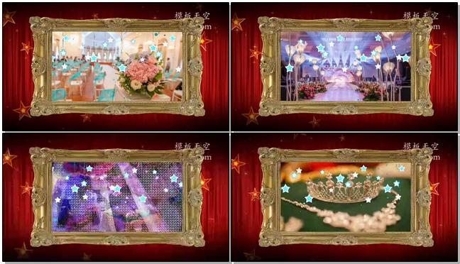 震撼简洁的皇室婚礼电子相册视频模板