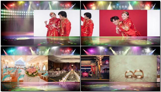 时尚动感的舞台图文展示会声会影x10视频模板