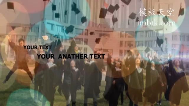 唯美大气同学会纪念相册片头视频模板