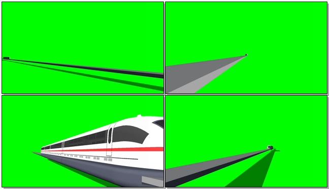 高铁运行视频素材带绿色通道可抠图像