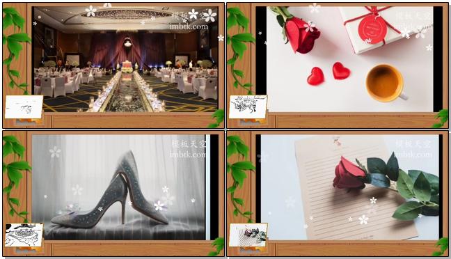 暖心婚礼相册展示之那些花儿会声会影x10视频模板