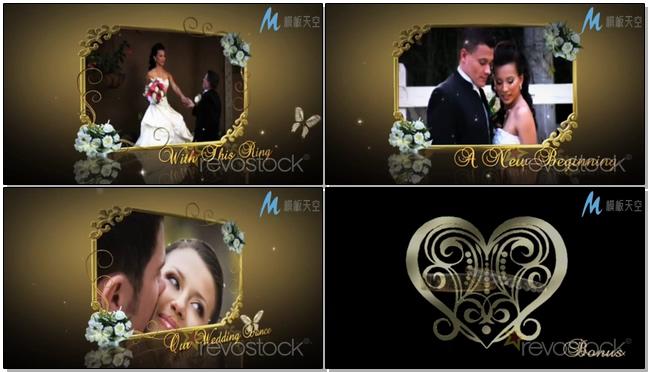 幸福生活婚庆相册视频AE模板