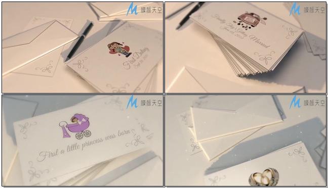 时尚动感的mg动画展示婚礼开场的ae模板