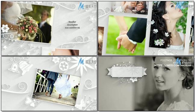 超唯美浪漫的婚礼整体包装视频相册AE模板