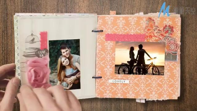 真爱的记忆手动翻页相册婚庆视频模板