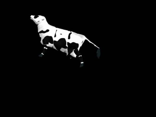 奶牛跳跃的视频素材可抠像带通道