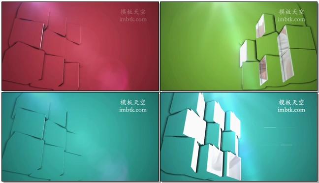 时尚动感的三维展示企业宣传介绍的会声会影x10模板