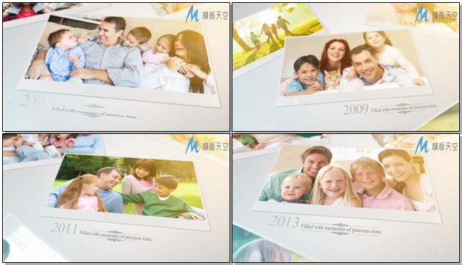 很温馨的一家人相册家庭相片视频模板