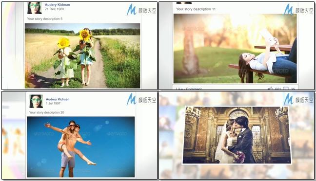 我们的恋爱历程婚礼短片介绍视频AE模板