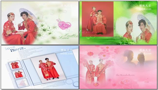 时尚动感又大气高端的婚礼相册视频短片模板