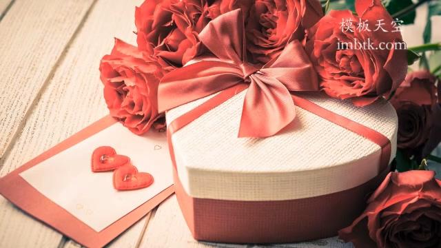 暖心浪漫的情人节礼物祝福会声会影x10模板