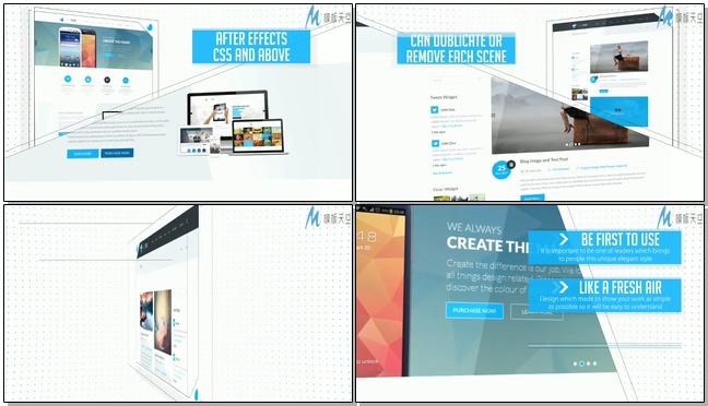 时尚简洁的网络产品广告宣传的ae模板