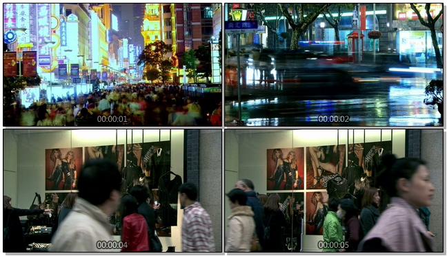 城市中人们购物逛街的实拍视频