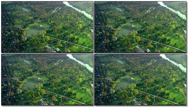 航拍城市生态公园的实拍视频
