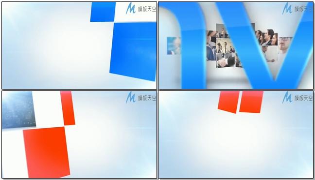 多种商务图片组成企业标志的ae模板