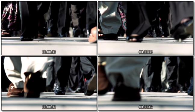 商务人士走路姿势的实拍视频