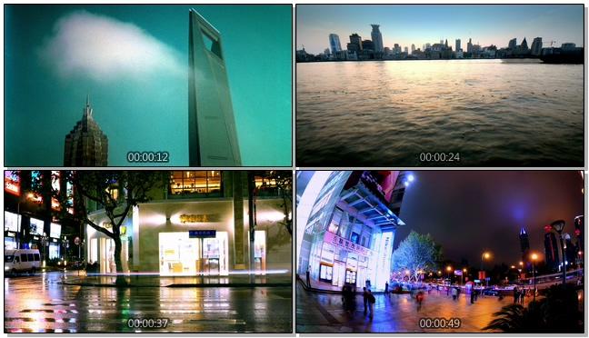 城市记录时间流逝的实拍视频