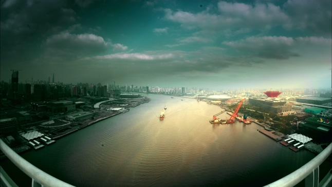 城市施工快速记录的实拍视频