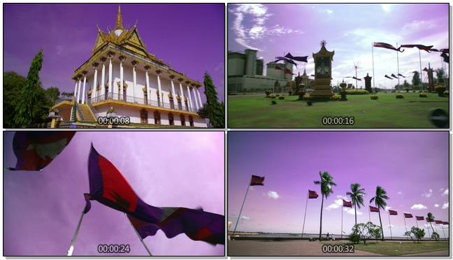 唯美梦幻的柬埔寨自然美景实拍视频