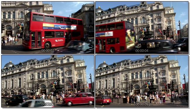 拥挤城市中的交通情况实拍视频