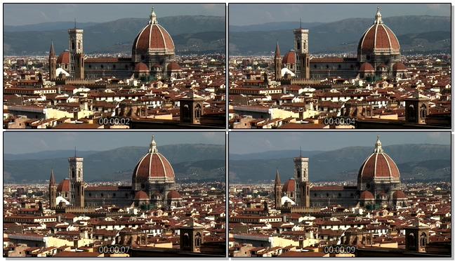 复古的教堂城堡城市风景实拍视频