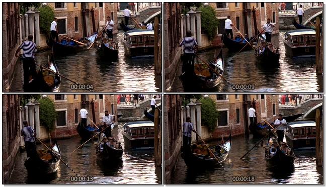 威尼斯水城的出行方式实拍视频