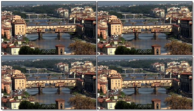 远距离拍摄宏伟壮观的大桥实拍视频