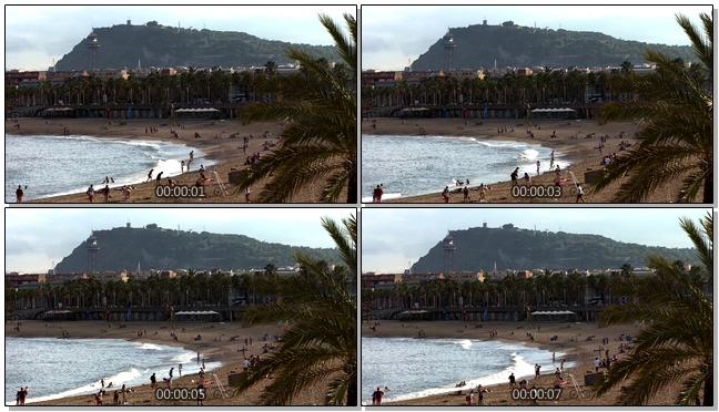 清爽自然的海边旅游实拍视频