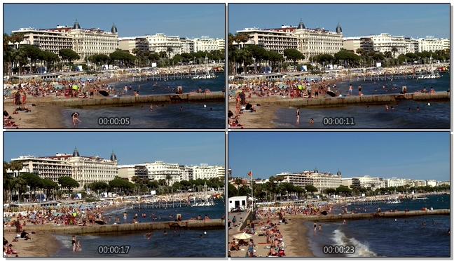 清凉动感的沙滩旅游景点实拍视频