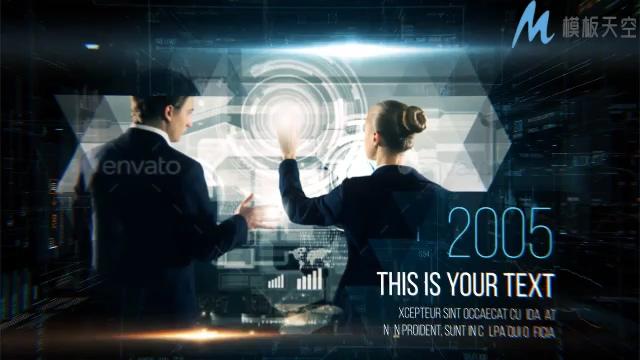 高科技数字时间线企业幻灯片宣传ae模板