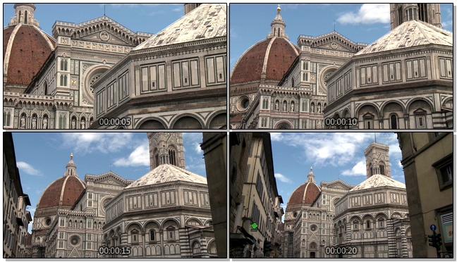 近距离拍摄复古的教堂及城堡的实拍视频