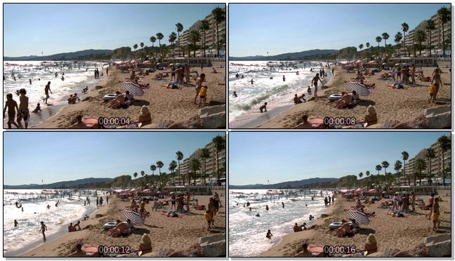 动感热情的沙滩旅游实拍视频