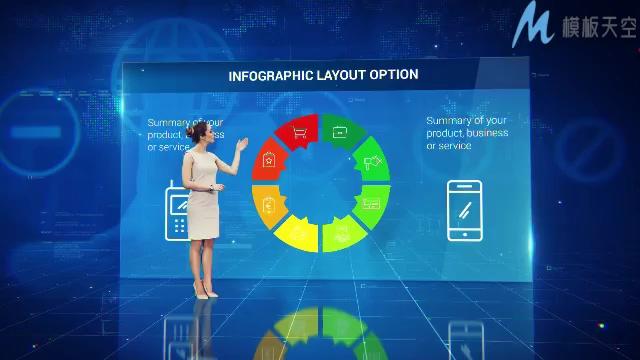 企业新闻宣传信息图表展示ae模板