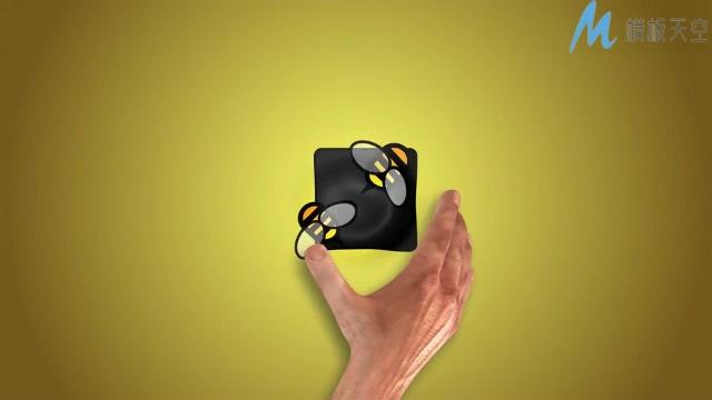简单优雅的手势揭示标志的ae模板