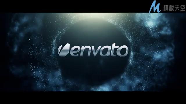 动感绚丽的粒子漩涡时尚logo宣传的ae模板
