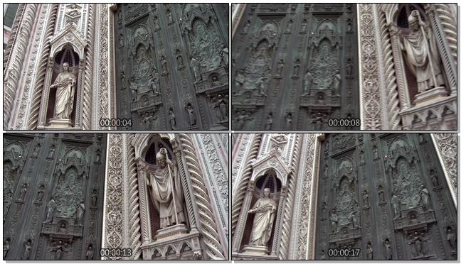 神秘壮观的文化遗产古老雕塑实拍视频