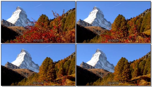 动感唯美的自然雪山美景实拍视频