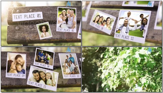 清新唯美的森林时尚宣传相册ae模板