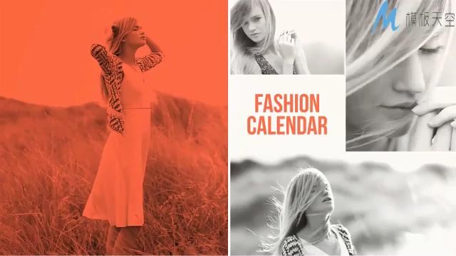 动感唯美的时尚杂志写真相册ae模板