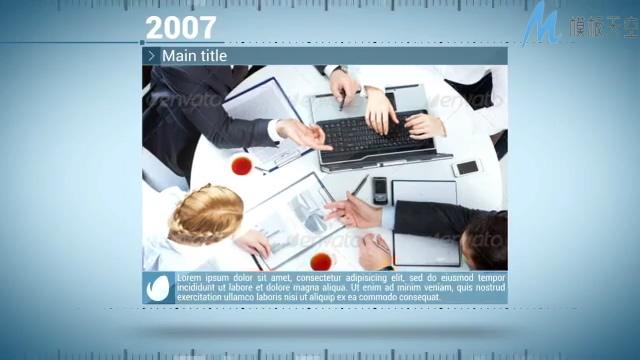 动感创意的企业发展史宣传展示ae模板