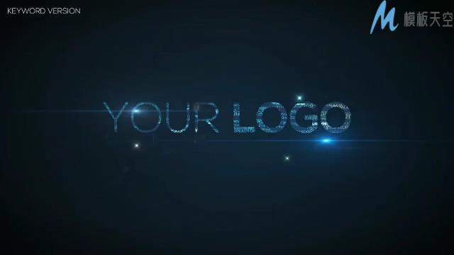 动感优雅的时尚相册汇聚成企业logo的ae模板