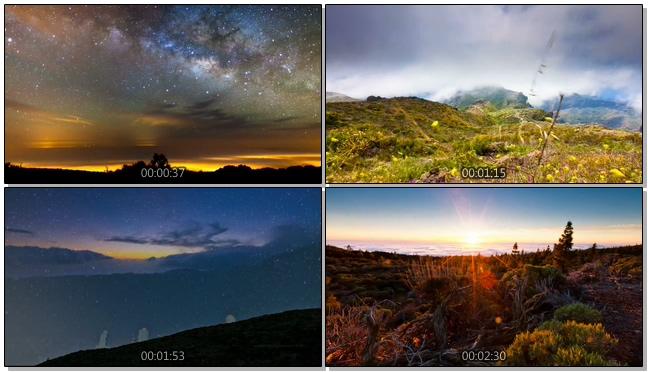 14150058延时摄影The+Mountain+阳光深林+落日+高山