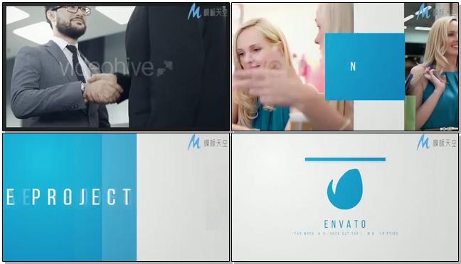 时尚动感的商务宣传广告展示ae模板