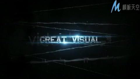硬汉时尚动感体育运动视频预告片模板