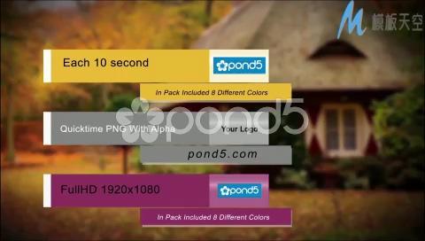 企业宣传常用字幕条AE模板