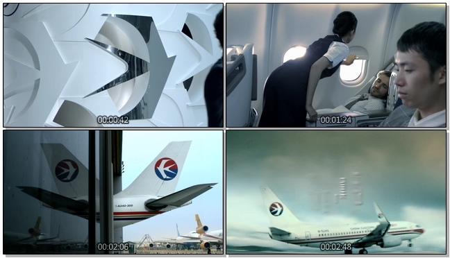 动感时尚的航空公司宣传片实拍视频
