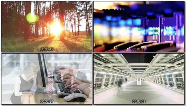 时尚动感的科技生活宣传实拍视频