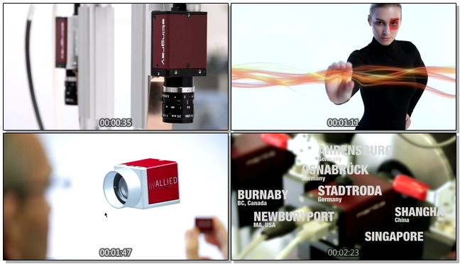 动感创意的数码相机公司宣传实拍视频