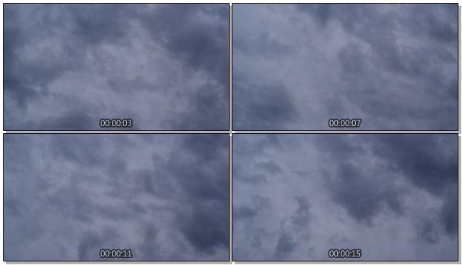 乌云布满天空的实拍视频