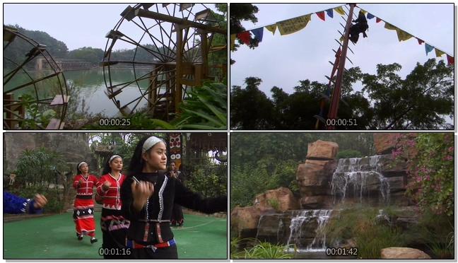 传统动感的民族舞蹈宣传实拍视频